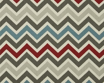 Pewter Chevron Curtain Panels or Valance