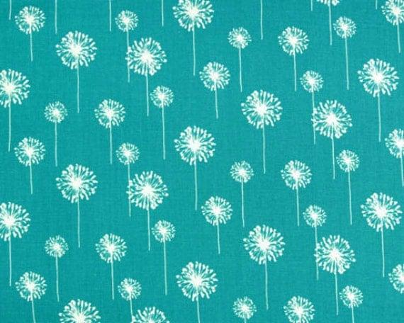 Nursing Pillow Cover - Turquoise Dandelion and Minky Boppy Cover - Ready to Ship