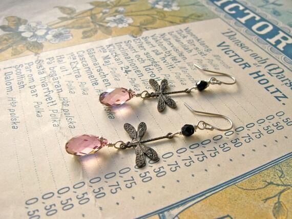 Garden earrings in vintag...