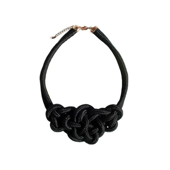 Rope Necklace - Black