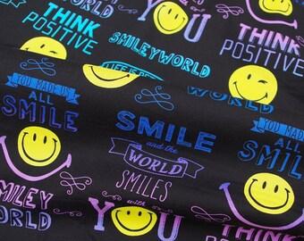 2265 - 1 yard Cotton Fabric  - smile face (140cmx91.44cm)
