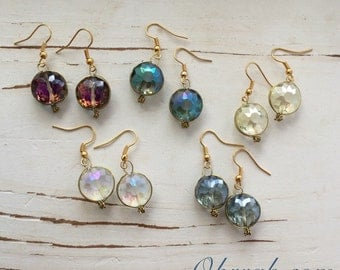 Okrrah Handmade, Handwrapped, Crystal Drop Earrings (You Choose)