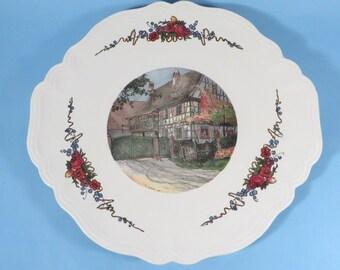 Vintage Obernai Faienceries Sarreguemines Platter - French Obernai Faienceries Platter