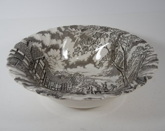 Vintage Myott Royal Mail Staffordshire Ironstone Serving Bowl