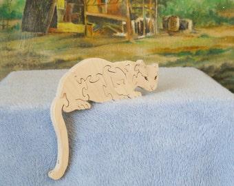 Wooden Mountain Lion Puzzle