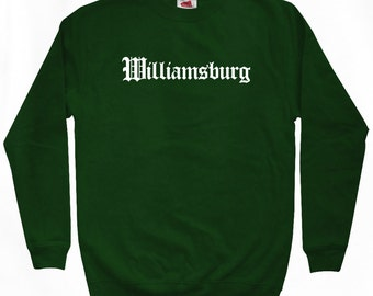 Williamsburg Gothic Sweatshirt - Men S M L XL 2x 3x - Brooklyn NYC Crewneck - Virginia - 4 Colors