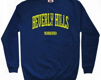 Beverly Hills Sweatshirt - Men S M L XL 2x 3x - California Crewneck - 4 Colors