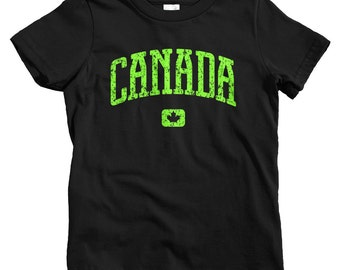 Kids Canada T-shirt - Baby, Toddler, and Youth Sizes - Canadian Tee, Toronto, Vancouver, Montreal, Ottawa, Calgary - 4 Colors