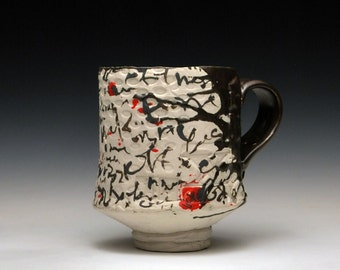 Black Dot Handbuilt Porcelain Mug