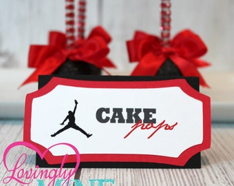 Jordan Jumpman Inspired Baby Shower Place Cards - Set of 8