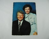 1977 Unused President Jimmy and Roselyn Carter postcard