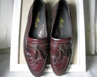 Vintage Cordovan tassel loafers size 9 1/2 D made in Brazil
