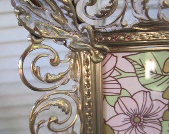 Vintage Filigree Frame Wedding Romantic Reception Metal Frame 10 by 8 photos  2 available
