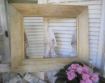 50s Wood Large Frame White Gold faux wood grain