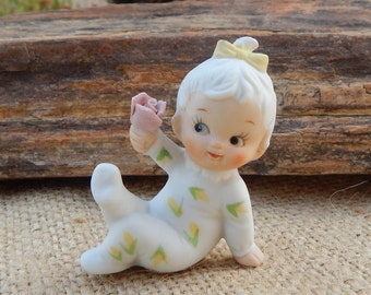 Napcoware Baby of the Month Figurine  ~  Napcoware 9878  ~  June Baby of the Month  ~  Napcoware Baby of the Month June  ~  Baby Figurine
