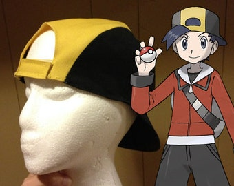 Gold/Ethan Pkmn Costume Hat - Pokemon Gold/Silver Cosplay