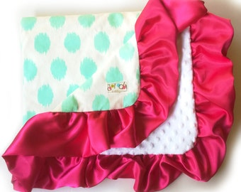 CUSTOM ORDER EXAMPLES not for sale - Baby girl floral dress blanket satin ruffle carseat strap cover  - made to order