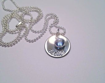 1 tag name necklace