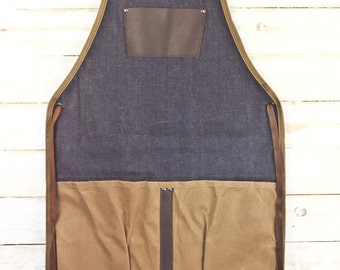 Utility Apron -- Selvedge Denim