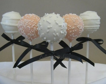 Wedding Favors: Premium Wedding Cake Pops Made to Order with High Quality Ingredients, 1 Dozen Cake Pops
