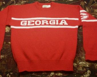 University of Georgia Bulldogs Vintage Cliff Engle Sweater LARGE