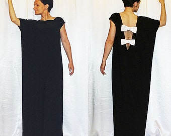 In stock  Dress Black Evning Party Free Loose Boho Plus size