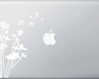 """MB - Flowers in the Wind - Laptop Vinyl Decal (5.5""""w x 7.5""""h)"""