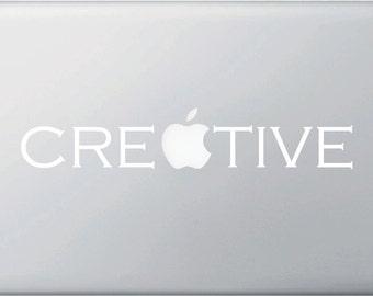 "MB - Creative - Macbook or Laptop Vinyl Decal (10""w x 1.25""h)"