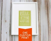 Custom Personalized Recipe Print with Hand Lettering