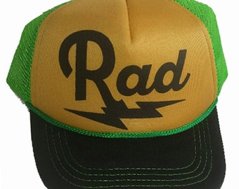 Rad Radical Bolt Green 3-24 months Baby Infant Child Mesh Trucker Hat Cap Snapback