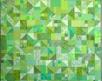 Guacamole Twin or Throw Quilt - 60 in X 72 in