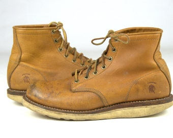SALE Vintage Work Boots Chippewa Chukka Leather Vibram Sole Boots 9.5 E
