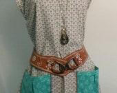 Woman's Medium Dress Tunic Pockets Made To Order