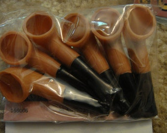 fast shipping lot 12 Old Fashioned Santa Pipes Vintage darcie doll making supplies plastic craft