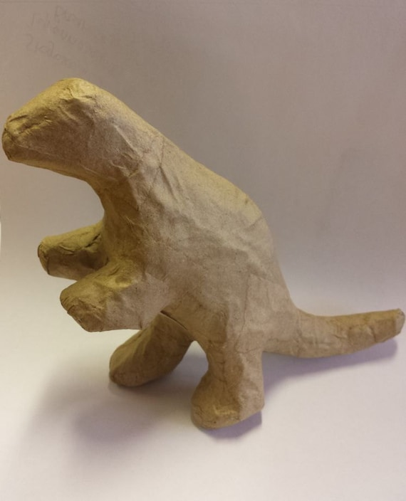 how to make a dinosaur model from paper mache