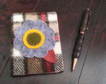 Scratch & Dent ;), Small  Lined Pocket Journal, Prayer Journal, Felted Wool
