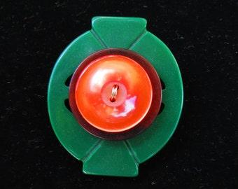 Brooch- Pin- Button Brooch- Vintage Buckle Brooch- Vintage Button Brooch