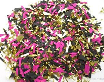 Pink Black Gold Confetti Scraps
