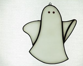 Stained Glass Ghost Suncatcher - Price Includes Shipping