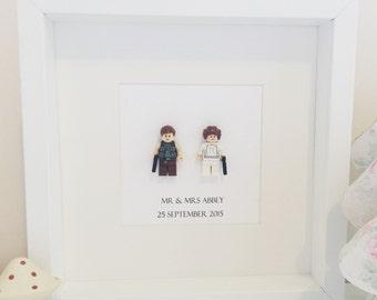 Star Wars Gift Lego Wedding Couple Mini Figure Frame Bride And Groom