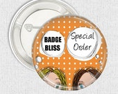 Special order 20 hen's party pinback button badges