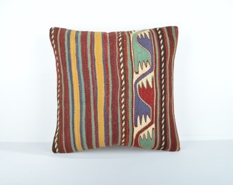Kilim pillow cover, kp1716, Kilim Pillow, Turkish Pillow, Kilim Cushions, Kilim, Moroccan Pillow, Bohemian Pillow, Turkish Kilim