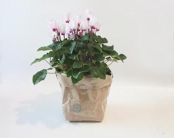 Kraft paper planter, Large flower planter,Kraft paper Flower pot, Valentine's day gift.