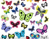 Butterfly Clipart, Butterflies Clipart, Nature Clipart, Instant download