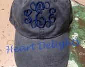 Monogrammed Baseball Cap Monogrammed Hat Ladies Girls Teens BaseBall Cap
