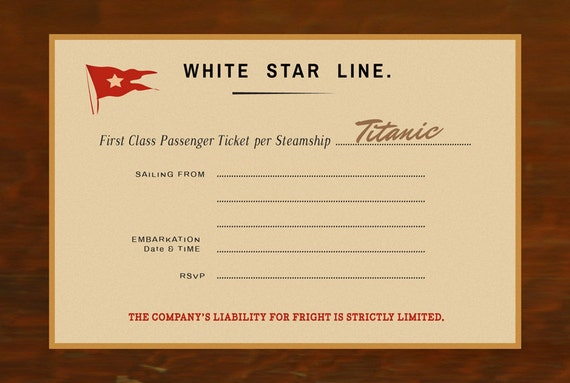 titanic party invitation halloween by antoniadesignspronto