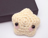amigurumi star plush - crochet stuffed toy star ornament