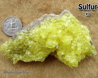 Sulfur Gemmy Crystal Cluster #3 (Sulphur)