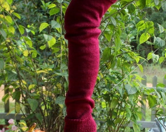 Luscious Maroon Leg Warmers 27 inches