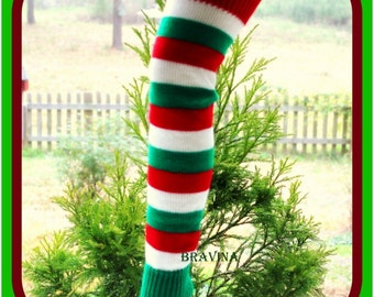Christmas Candy Leg Warmers Adult 22 inches